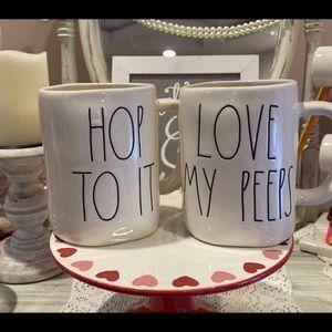 Rae Dunn by Magenta Easter Mug Set of 2 Hop To It//Love My Peeps